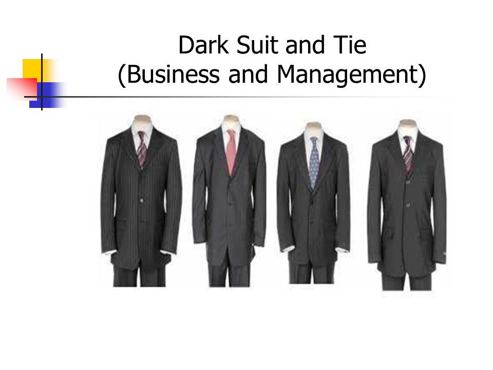 Dark Suit and Tie (Business and Management)