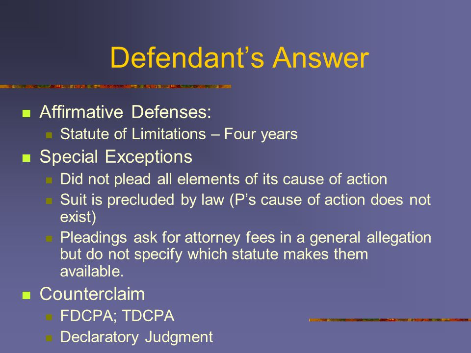 Defendants Answer Verify.