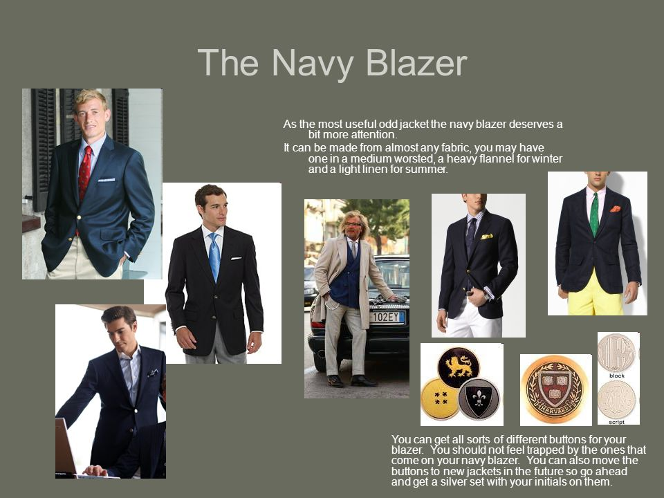 The Navy Blazer As the most useful odd jacket the navy blazer deserves a bit more attention.