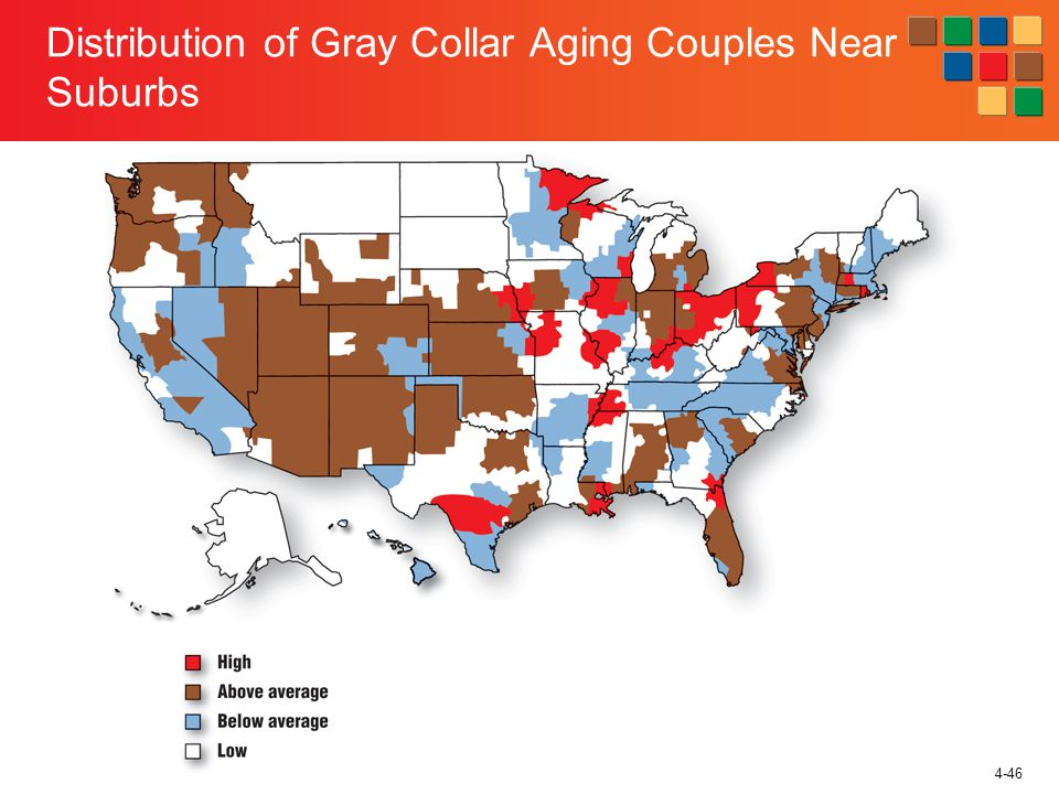 4-46 Distribution of Gray Collar Aging Couples Near Suburbs
