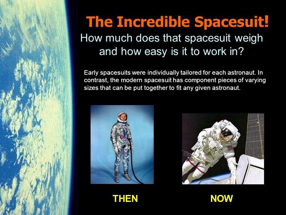 The Incredible Spacesuit Huh, Houston we have problem.