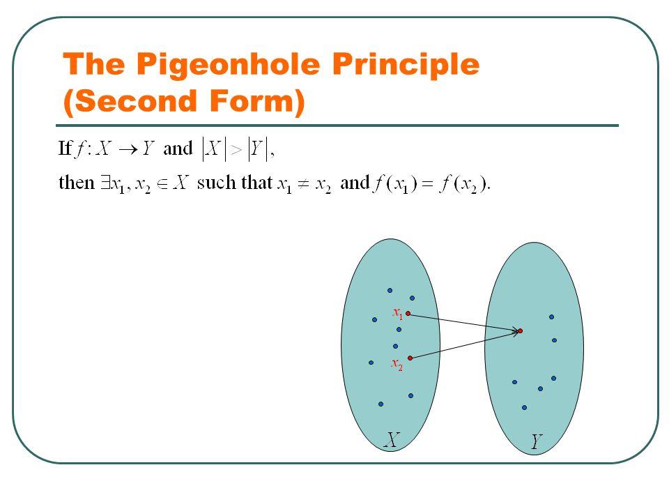 The Pigeonhole Principle (Second Form)