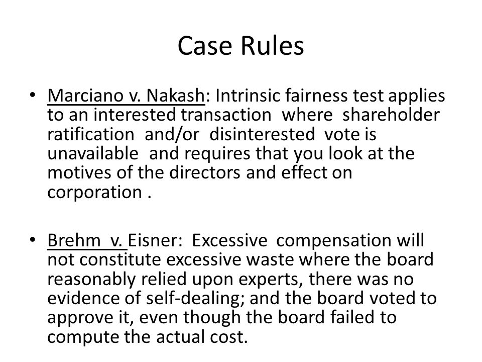 Case Rules Marciano v.
