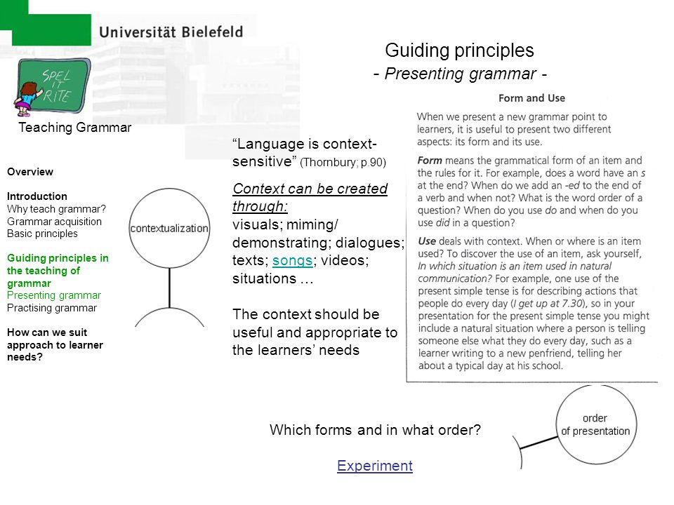 Teaching Grammar Bibliography Green, Catherine & Tanner, Rosie (1998).