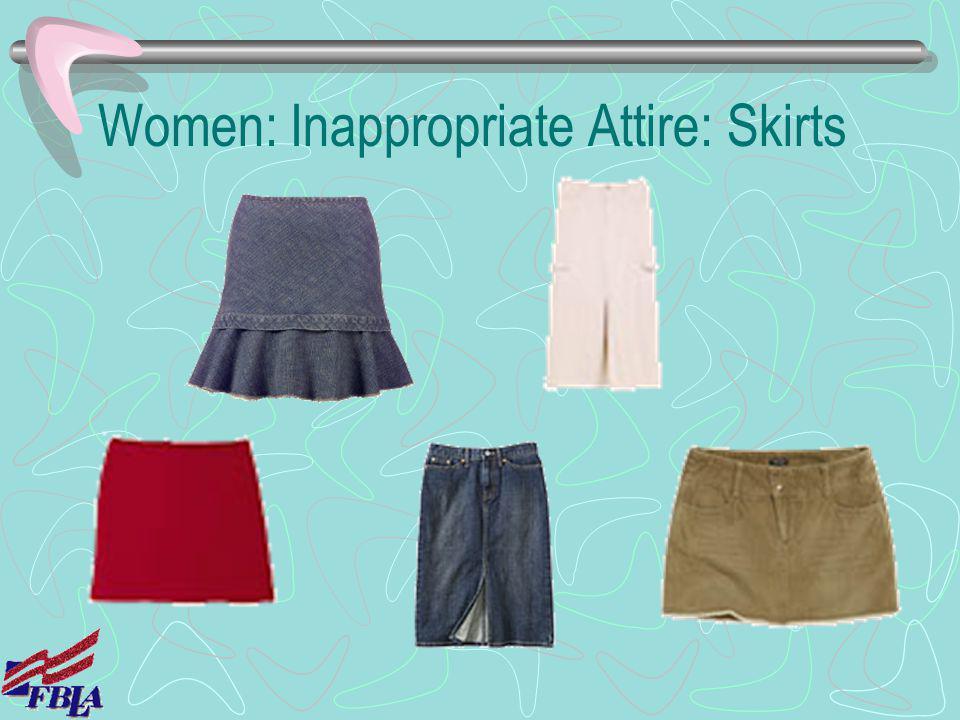 Women: Inappropriate Attire: Skirts