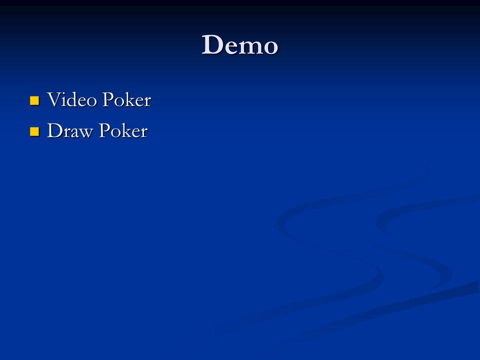 Demo Video Poker Video Poker Draw Poker Draw Poker