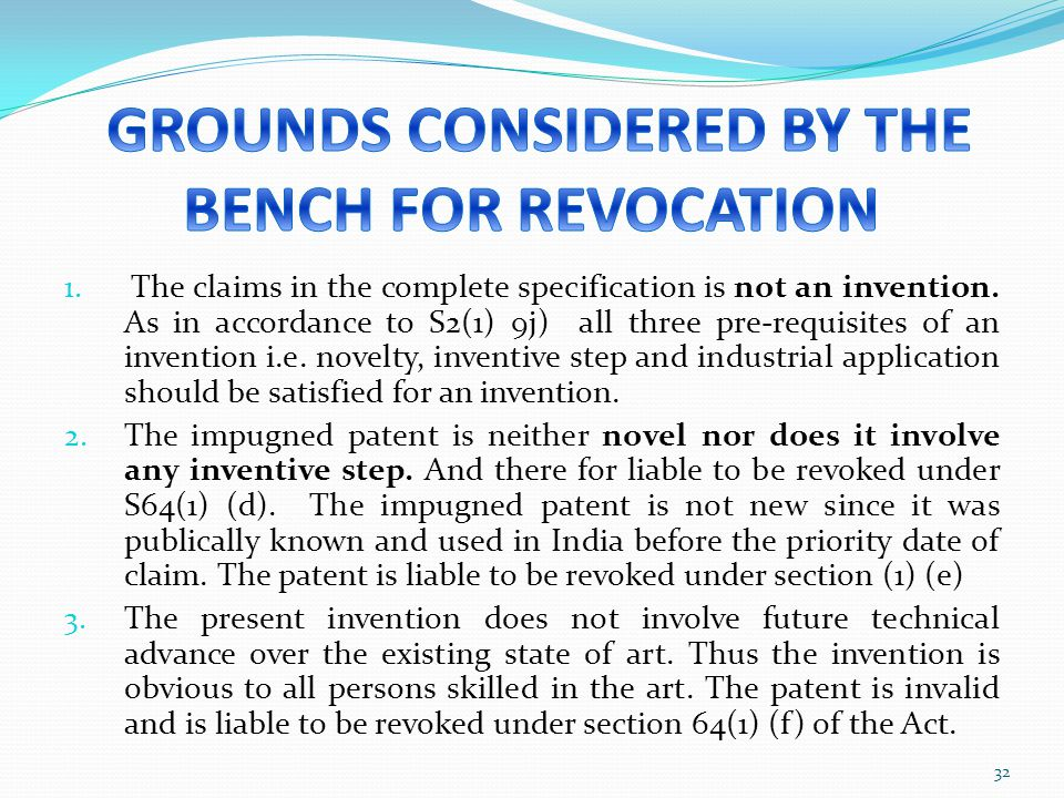 1. The claims in the complete specification is not an invention. As in accordance to S2(1) 9j) all three pre-requisites of an invention i.e. novelty,