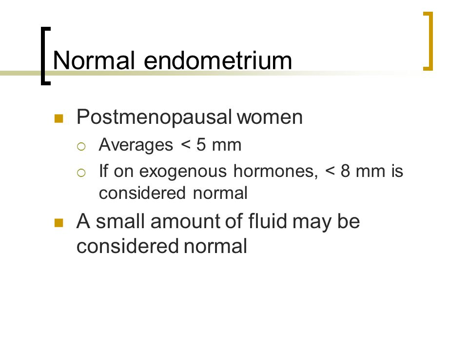Conclusions In the postmenopausal group, complex hyperplasia and cancer were diagnosed with an endometrial thickness of 3 and 5 mm, respectively