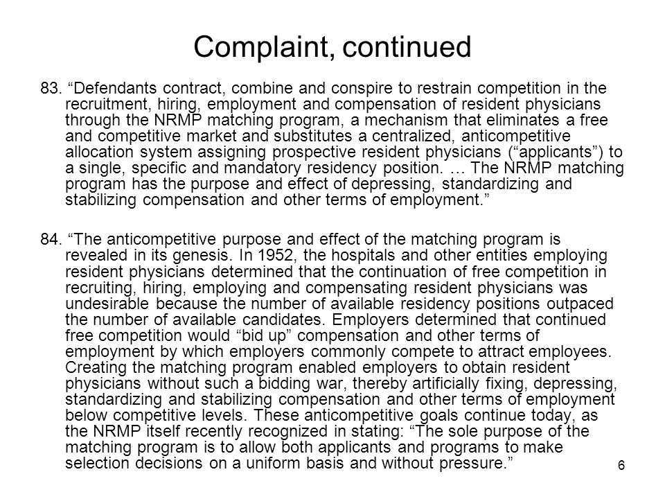 6 Complaint, continued 83.