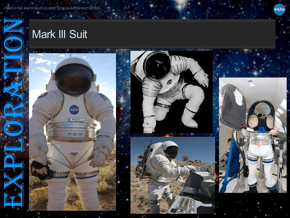 National Aeronautics and Space Administration EXPLORATION Mark III Suit