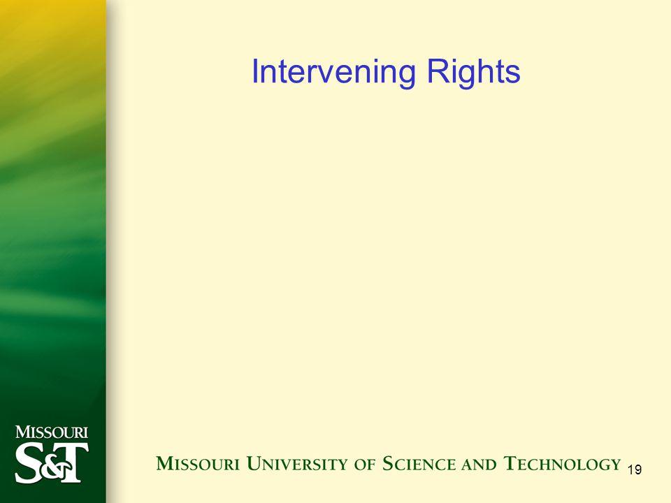 Intervening Rights 19