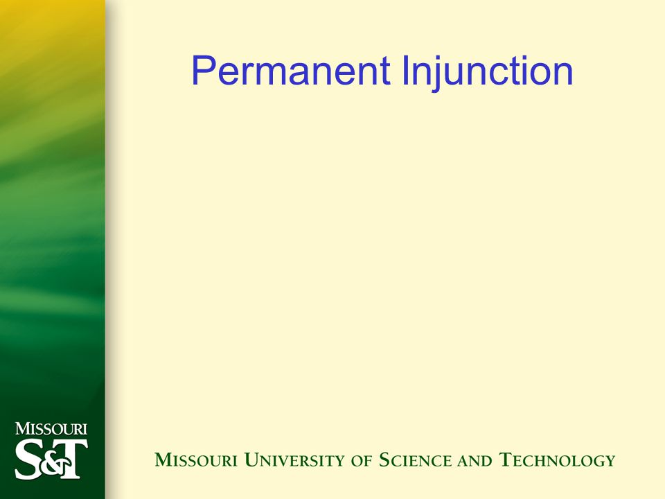 Permanent Injunction
