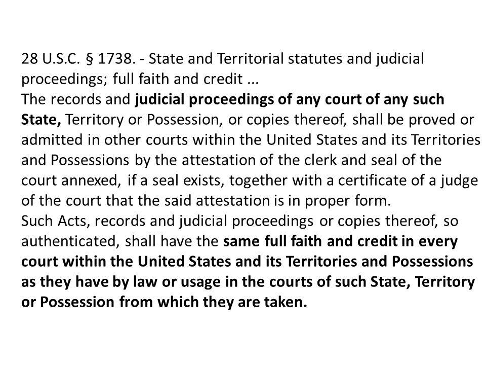 28 U.S.C. § 1738.