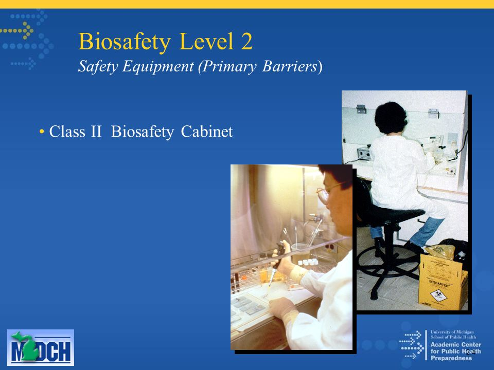 Biosafety Level 2 Safety Equipment (Primary Barriers) Class II Biosafety Cabinet 2.4