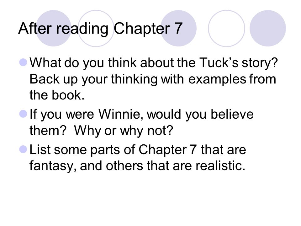 Chapter 8-9 Character development- It is important not only to look at what a character is like at a particular moment in time, but also to watch how the character changes over time.