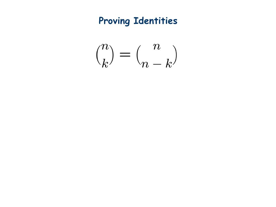 Proving Identities