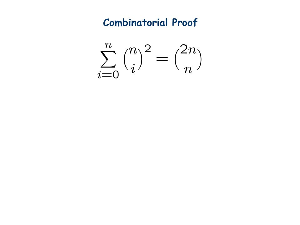 Combinatorial Proof