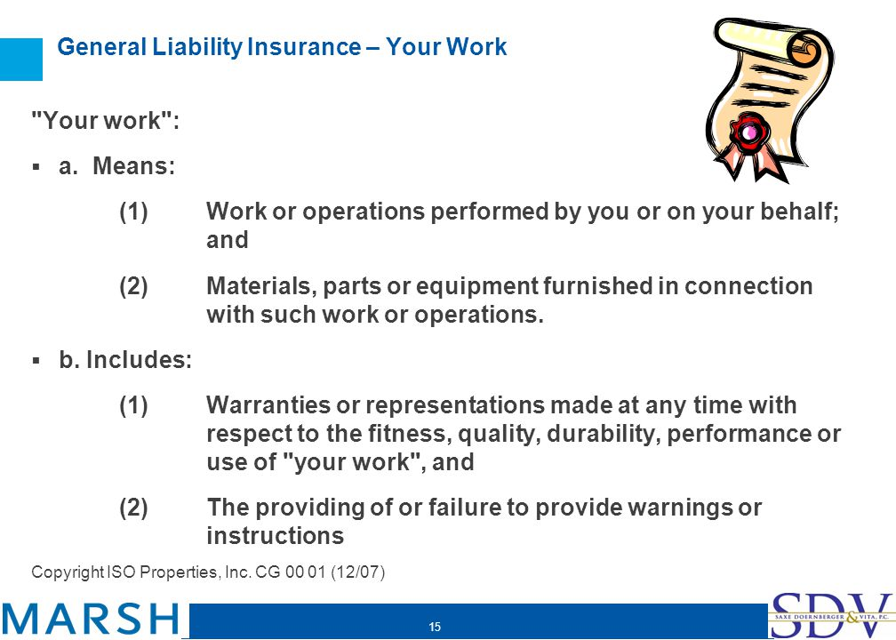 15 General Liability Insurance – Your Work