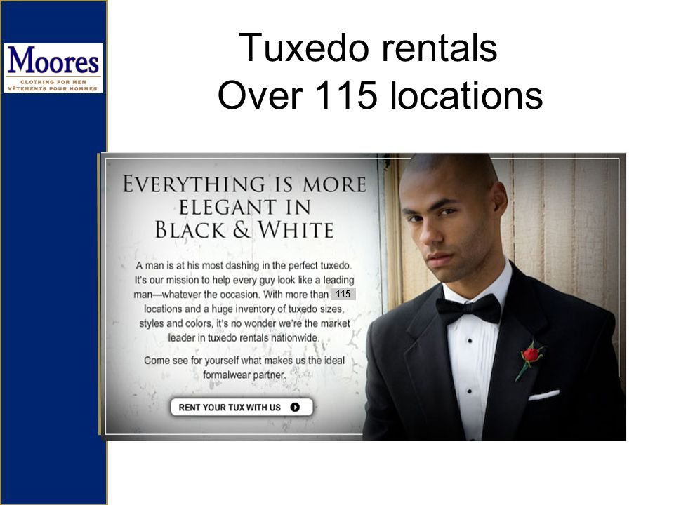 Tuxedo rentals Over 115 locations 115