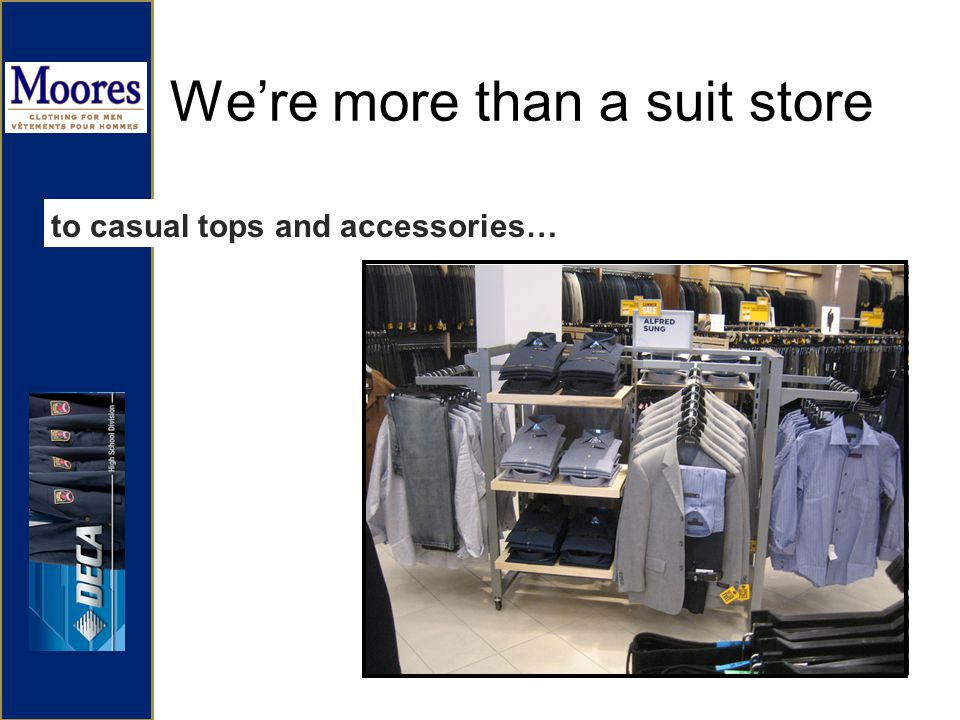 Were more than a suit store to casual tops and accessories…