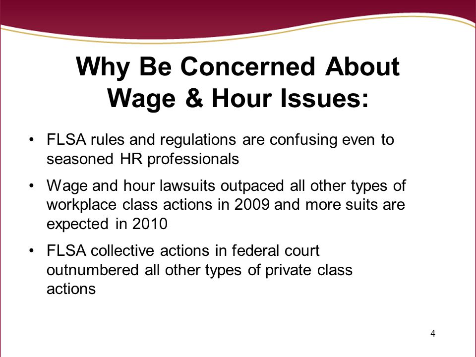 45 Identifying Work Time FLSA does not define work –Defines employ as suffer or permit to work Includes anytime an employer requires OR allows an employee to work No such thing as a volunteer Employer Knowledge –Employer may not sit back and enjoy the benefits of an employee that works without entering time