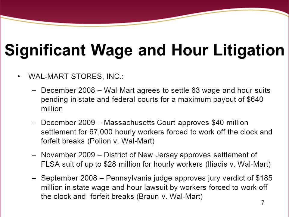 18 Salary Basis – Permitted Deductions Absent for one or more days for personal reasons, other than sickness or disability Absent for one or more days due to sickness or disability if deductions made under a bona fide plan, policy or practice of providing wage replacement pay for those types of absences To offset any amounts received as payment for jury fees, witness fees, or military pay Penalties imposed in good faith for violating safety rules of major significance Disciplinary suspension of one or more days imposed in good faith for violations of workplace conduct rules Pro-rata pay during first and last weeks of employment Unpaid leave taken pursuant to FMLA