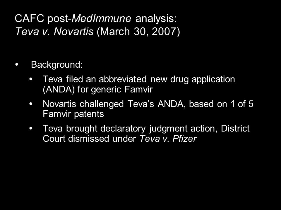 CAFC post-MedImmune analysis: Teva v.