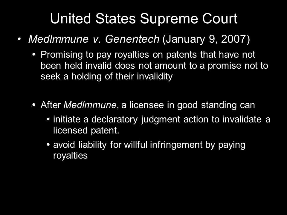 United States Supreme Court Medlmmune v.