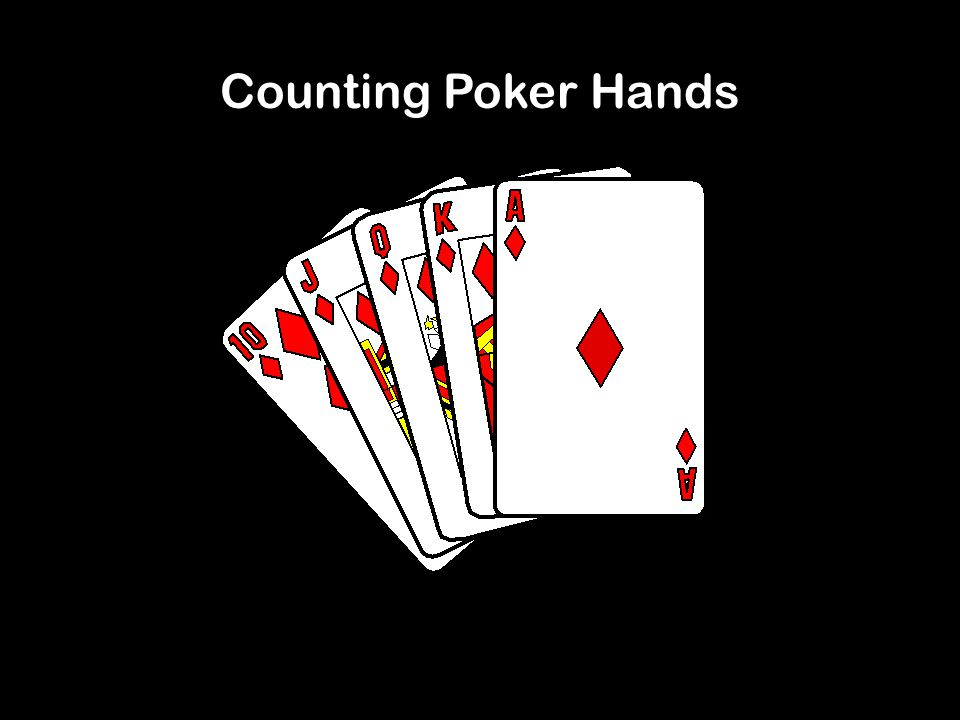 52 Card Deck, 5 card hands 4 possible suits: 13 possible ranks: 2,3,4,5,6,7,8,9,10,J,Q,K,A Pair: set of two cards of the same rank Straight: 5 cards of consecutive rank Flush: set of 5 cards with the same suit