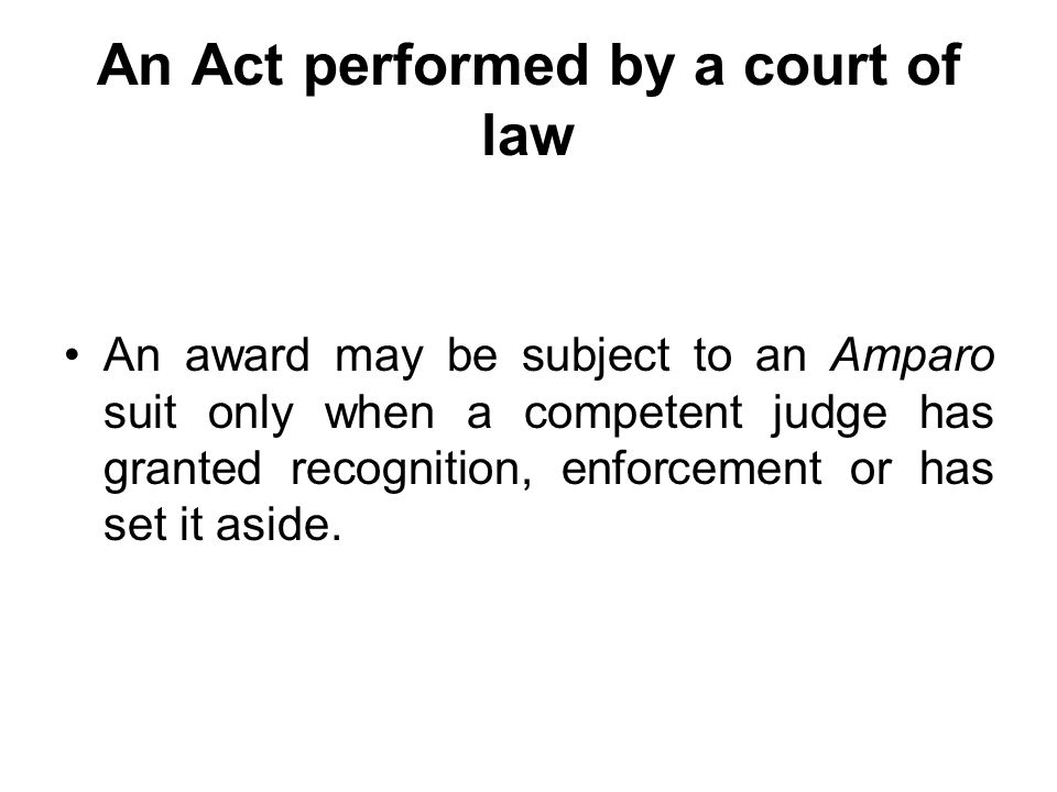No appeal The Code of Commerce, in Articles 1460 and 1463, states that the decision granting annulment, recognition or enforcement of an award shall be subject to no appeal.