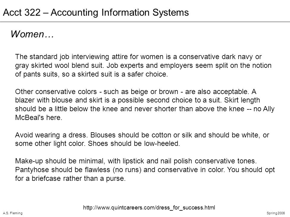 A.S. FlemingSpring 2006 Acct 322 – Accounting Information Systems Not This Nut