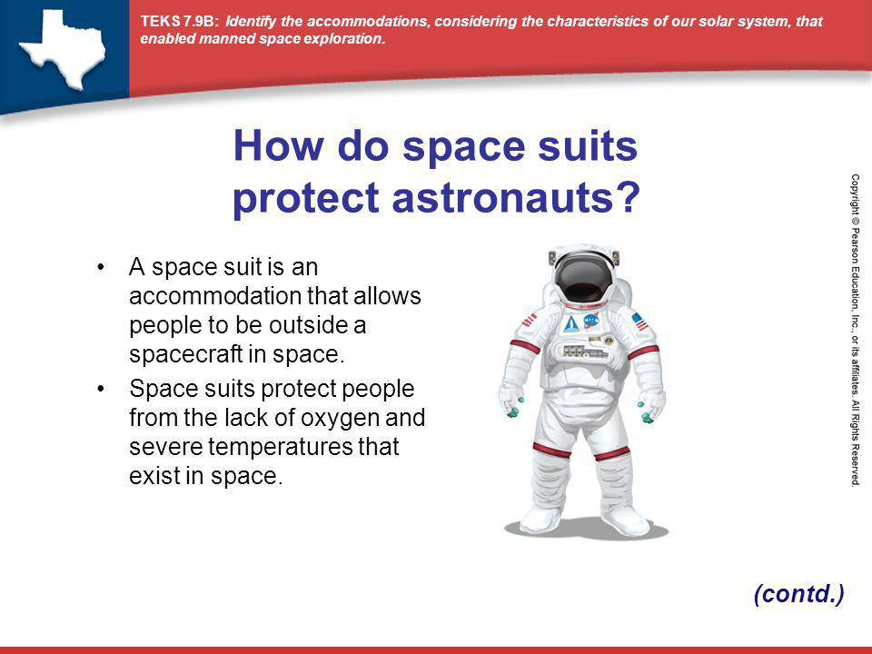 TEKS 7.9B: Identify the accommodations, considering the characteristics of our solar system, that enabled manned space exploration.