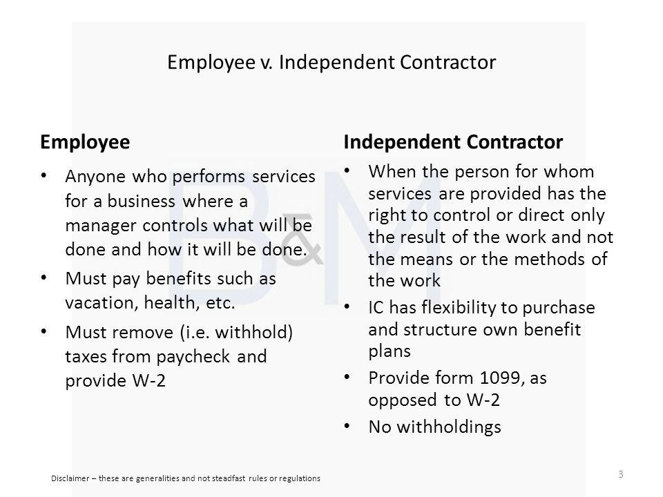 Employee v.