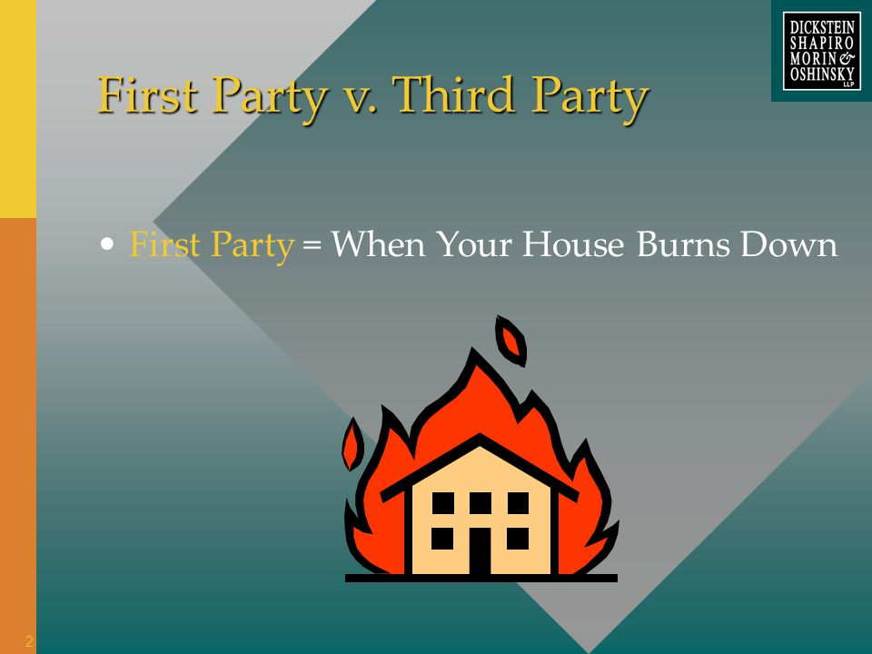= When Your House Burns Down First Party v. Third Party First Party 2