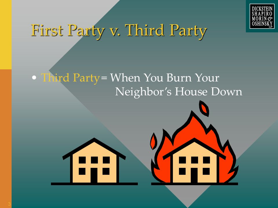 = When You Burn Your Neighbors House Down Third Party First Party v. Third Party 3
