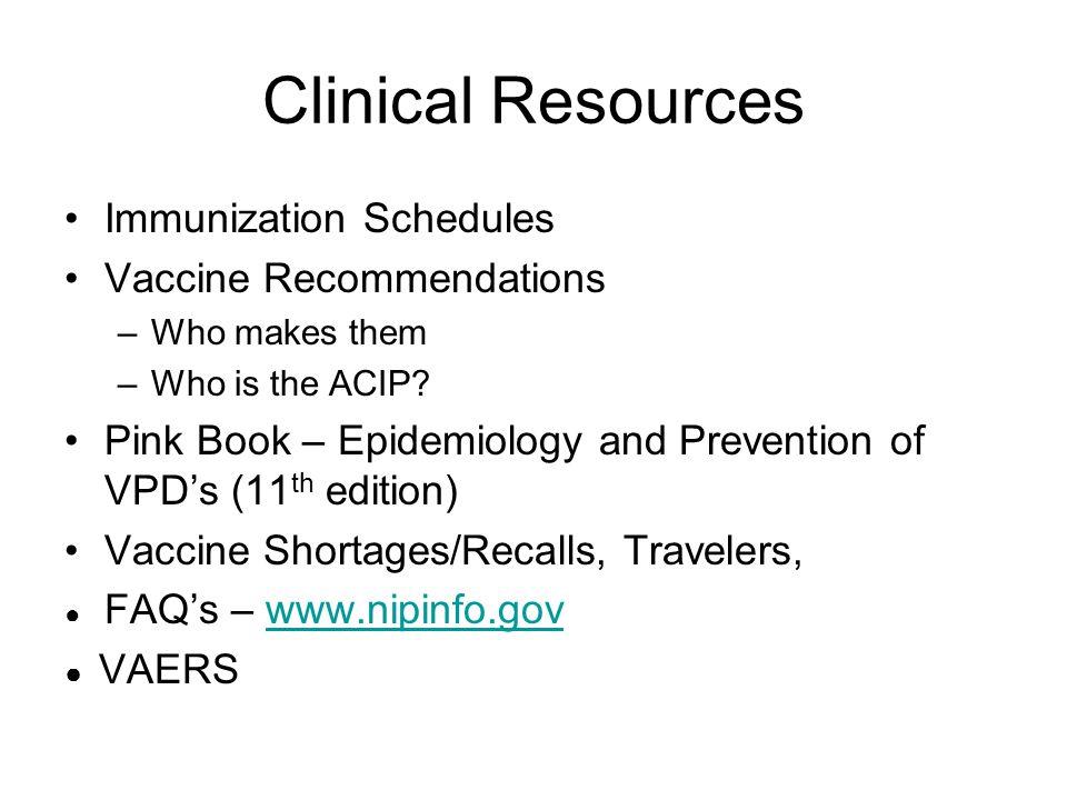 Vaccine Storage & Handling Update VFC Provider Vacine Management Requirements –www.cdc.gov/vaccines/programs/vfc/projects/vacc-mgmt- manage.htm#providers Vaccine Storage & Handling Toolkit –www.cdc.gov/vaccines/recs/storage/default.