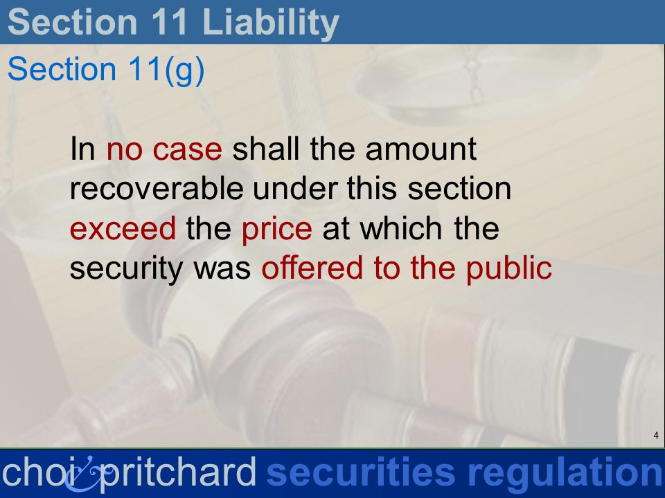 25 & choi pritchardsecurities regulation corrective statement Section 11 Liability InterPhone (Hypothetical 5) InterPhone IPO rumors industry magazine article Federal Reserve Chairman testimony suit filed low trading volume covered by one analyst