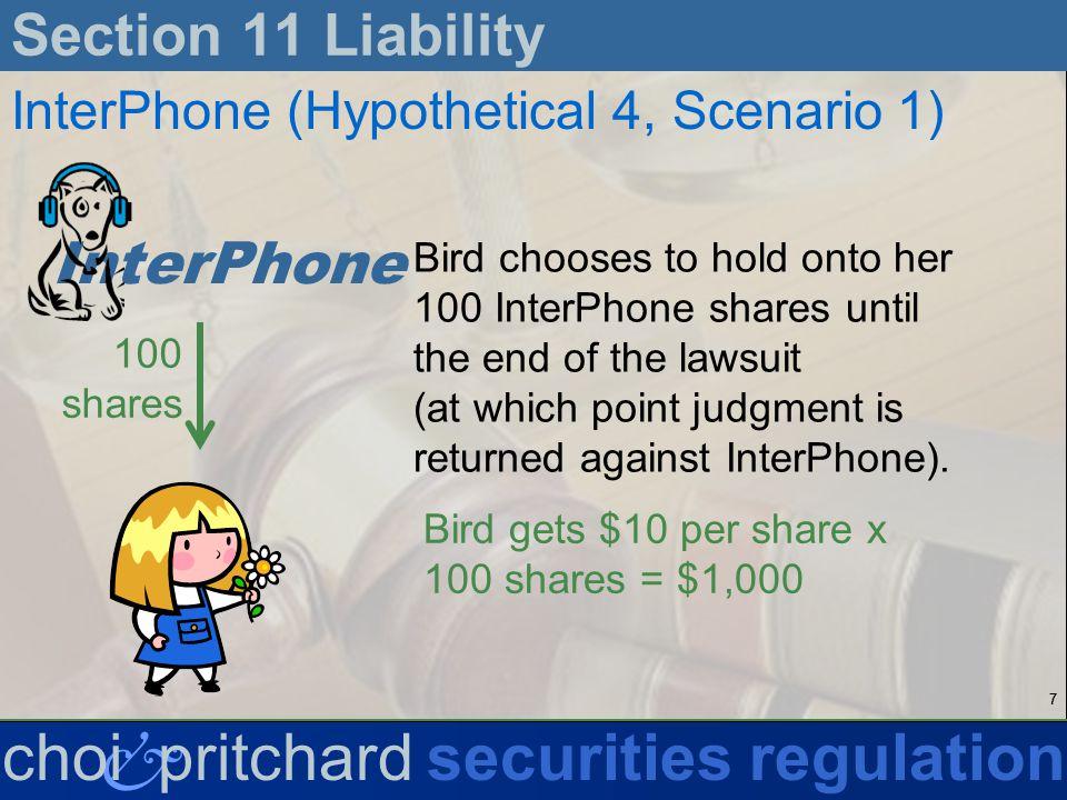 28 & choi pritchardsecurities regulation Section 11 Liability Eichensholtz v.