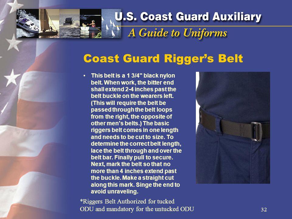 Coast Guard Riggers Belt This belt is a 1 3/4 black nylon belt.