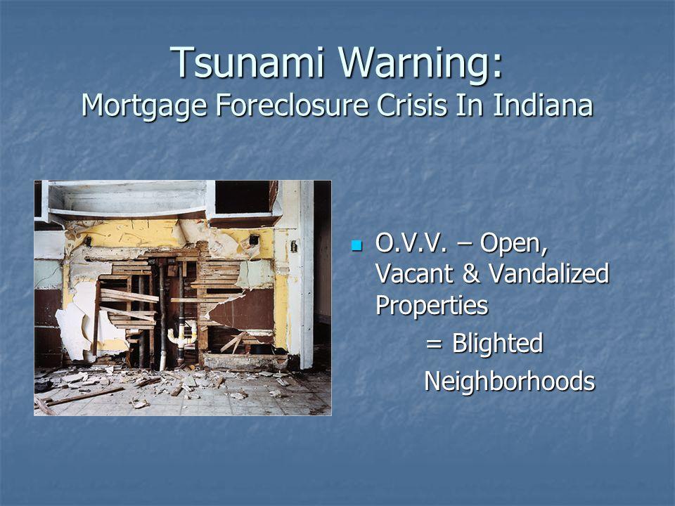 Tsunami Warning: Mortgage Foreclosure Crisis In Indiana O.V.V.