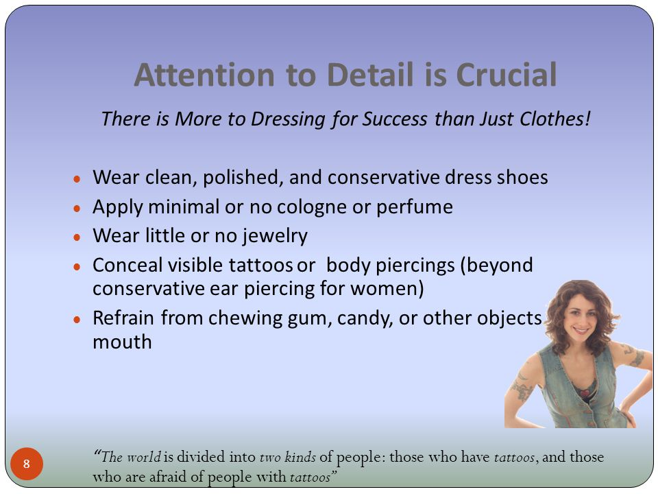 Dress For Success: Now What.