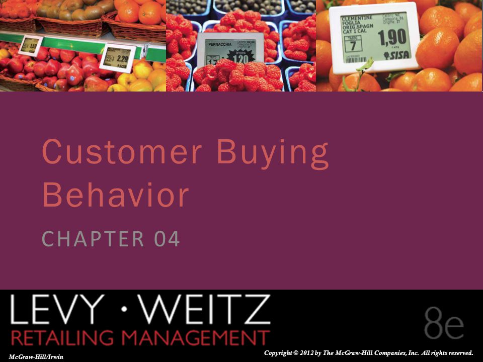 Retailing Management 8e© The McGraw-Hill Companies, All rights reserved. 4 - 1 CHAPTER 2CHAPTER 1 CHAPTER 4 McGraw-Hill/Irwin Copyright © 2012 by The