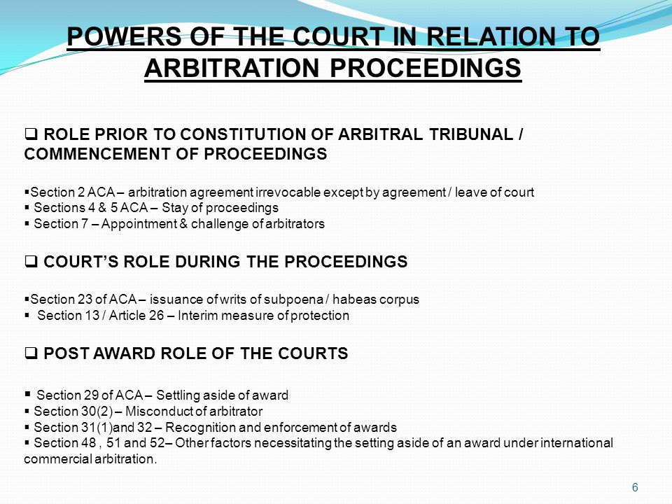 NEW PROVISIONS OF THE LAGOS STATE ARBITRATION LAW Form of Arbitration Agreement o Sections 3[3] [4] and [5]of the Lagos State Arbitration Law Interim Measures / Preliminary Orders o Section 21 of the Lagos State Arbitration Law o Section 21[3] of the Lagos State Arbitration Law o Section 25 of the Lagos State Arbitration Law o Section 26 of the Lagos State Arbitration Law o Section 27 of the Lagos State Arbitration Law o Section 28 of the Lagos State Arbitration Law o Section 29[1][2] and [3] of the Lagos State Arbitration Law Specific Powers of the Arbitral Tribunal on Remedies o Section 38 of the Lagos State Arbitration Law o Section 38[2] of the Lagos State Arbitration Law Appointment of Umpire o Section 9[1] [a] and [b] of the Lagos State Arbitration Law o See section 9[2] [a-d] of the State Arbitration Law o Section 9[2][a] of the Lagos State Arbitration Law o Section 9[2][b] of the Lagos State Arbitration Law o Section 9[2][c] of the Lagos State Arbitration Law 7