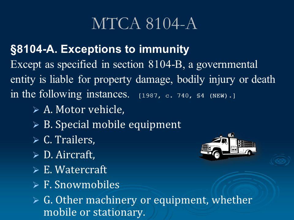 MTCA 8104-A §8104-A.