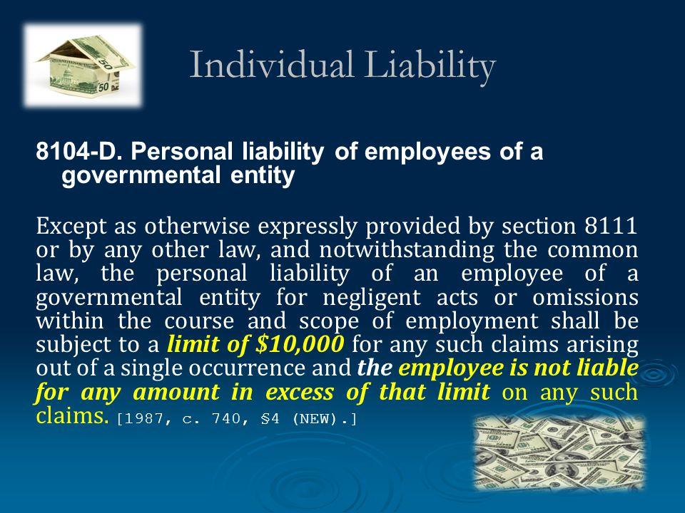 Individual Liability 8104-D.