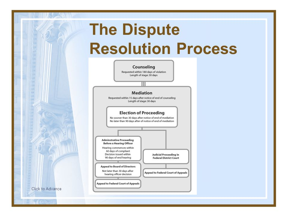 The Dispute Resolution Process Click to Advance