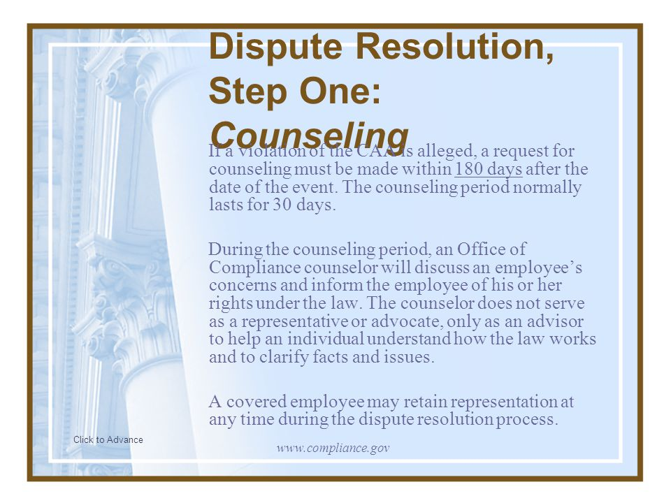 Step Two: Mediation Click to Advance