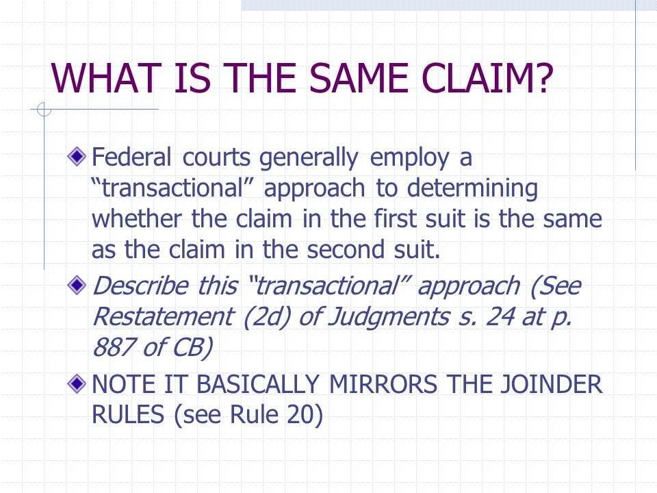 ISSUE PRECLUSION Like claim preclusion, issue preclusion is part of the broader topic of former adjudication, that is, the effect of judgments on subsequent litigation Issue preclusion - precludes relitigation of a previously decided issue Also known as collateral estoppel