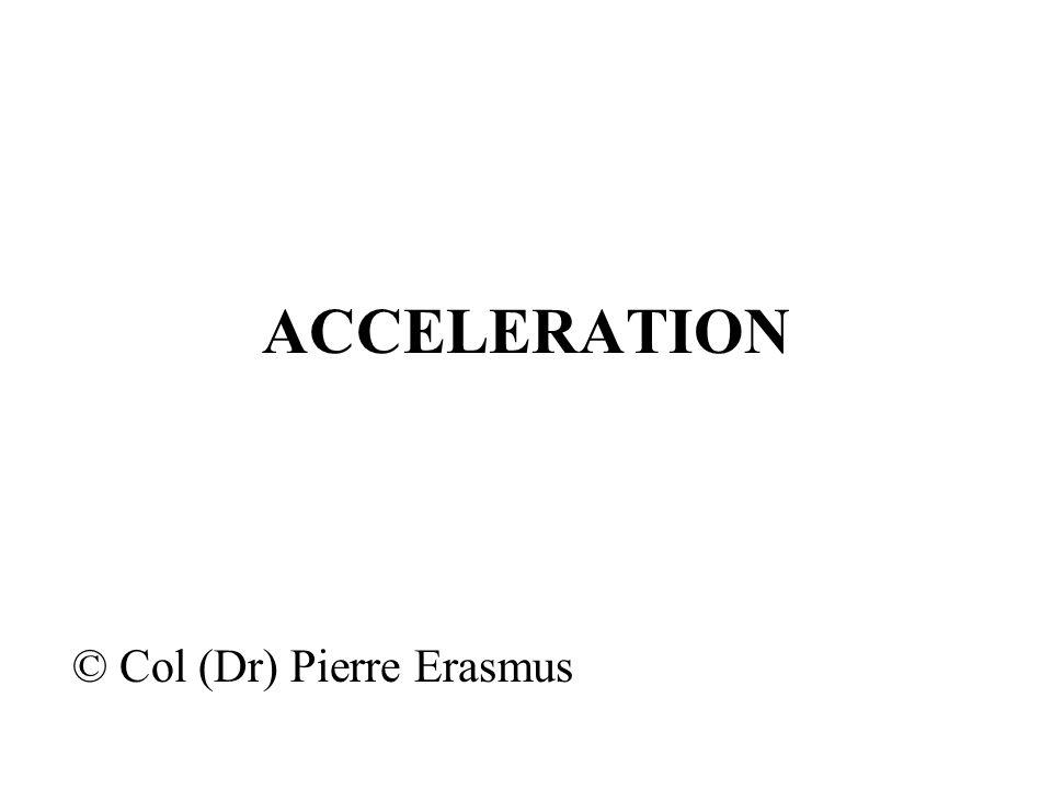 ACCELERATION © Col (Dr) Pierre Erasmus