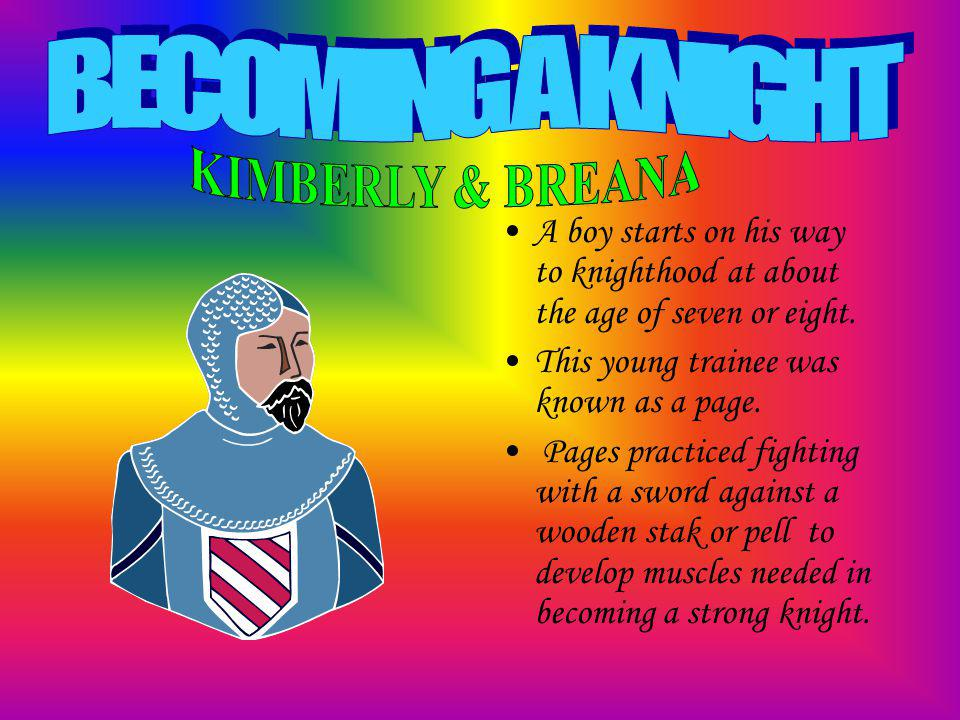 Becoming a Knight CastlesClothing Knights & their Armor Weapons Medieval Monks Knights of the Round Table Jousts & Tournaments Cathedrals The Crusades Monks & Nuns